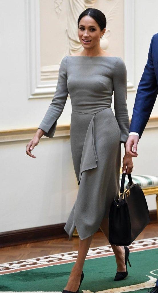Меган в классическом платье | Кейт vs Меган: сравниваем стиль двух герцогинь | Her Beauty