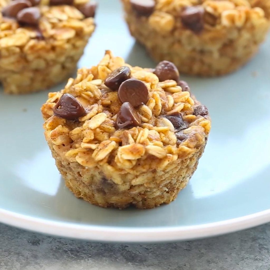 Baked Pumpkin Oatmeal Muffins | 12 Healthy Pumpkin Recipes Perfect for Fall | Her Beauty