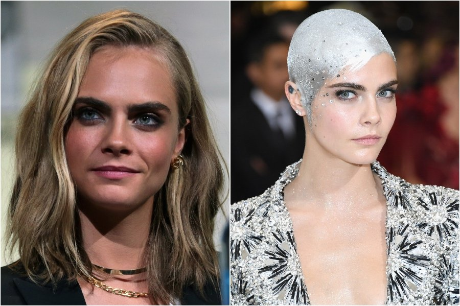 Cara Delevingne | 15 Stars That Shaved Their Head And Rocked It | Her Beauty