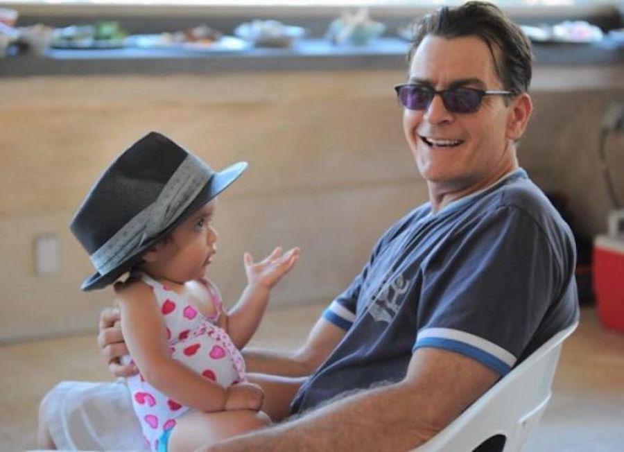 Charlie Sheen | 12 Celebrity Grandpas With Their Grandchildren Will Melt Your Heart | Her Beauty