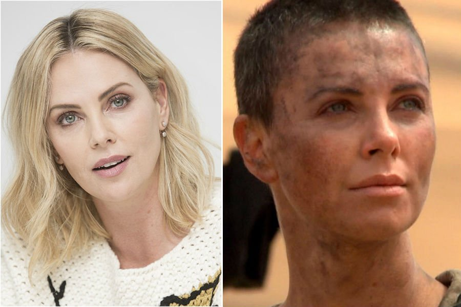Charlize Theron | 15 Stars That Shaved Their Head And Rocked It | Her Beauty