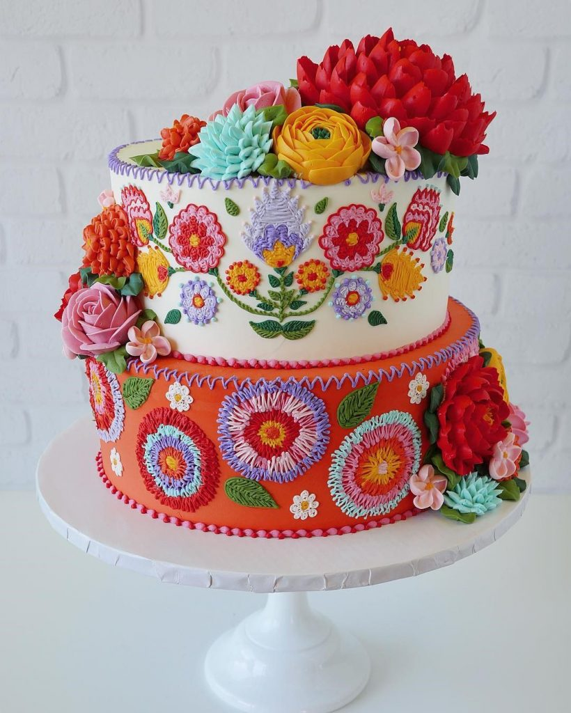 Embroidery Cakes byLeslie Vigil Will Bring You joy #1 | HerBeauty