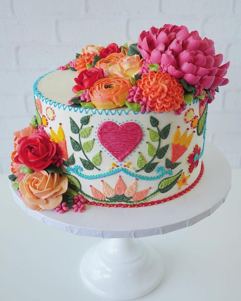 Embroidery Cakes byLeslie Vigil Will Bring You joy #10 | HerBeauty