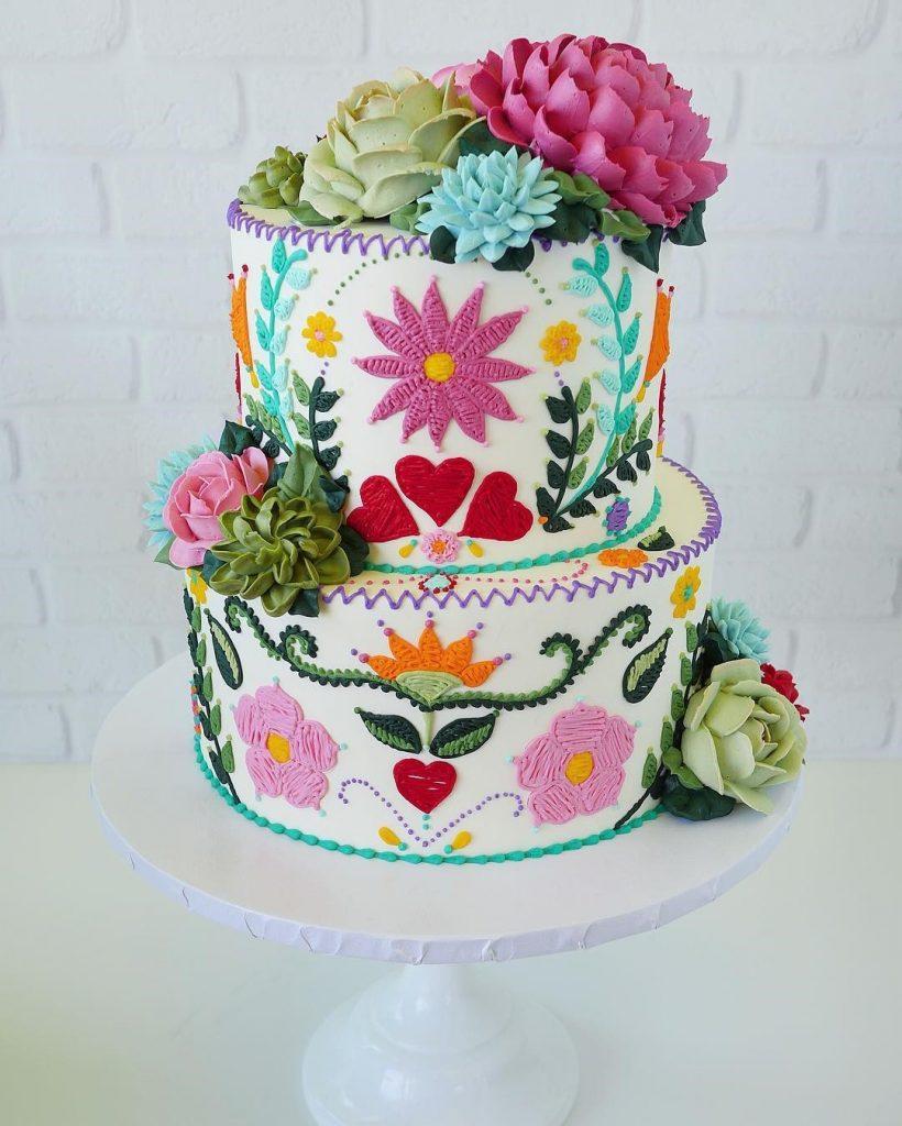 Embroidery Cakes byLeslie Vigil Will Bring You joy #3 | HerBeauty