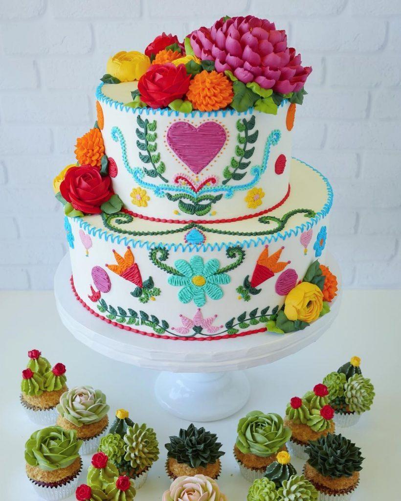 Embroidery Cakes byLeslie Vigil Will Bring You joy #4 | HerBeauty