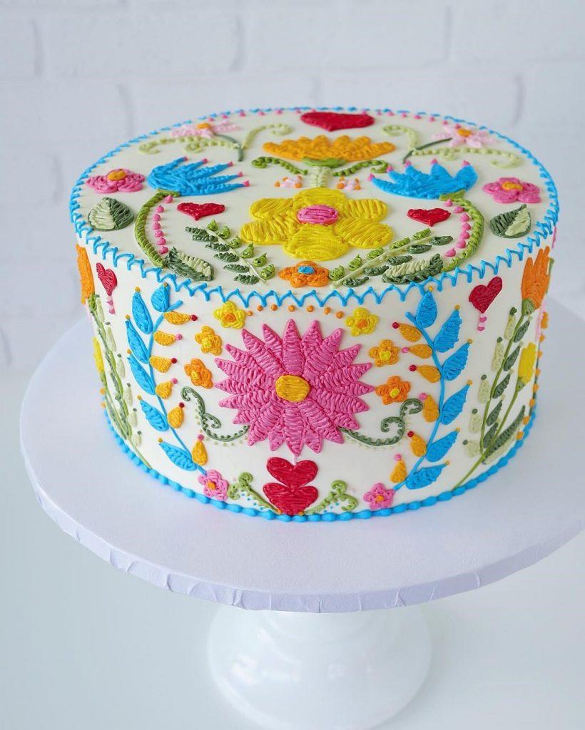 Embroidery Cakes byLeslie Vigil Will Bring You joy #6 | HerBeauty