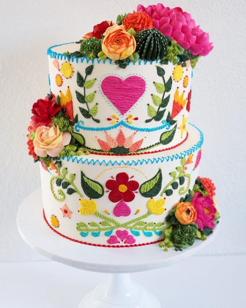 Embroidery Cakes byLeslie Vigil Will Bring You joy #8 | HerBeauty
