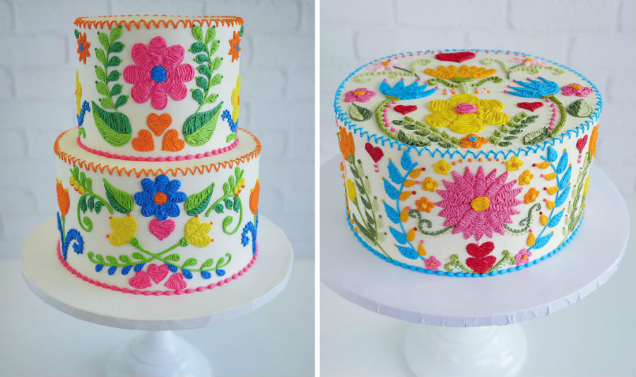 Embroidery Cakes by Leslie Vigil Will Bring You joy | Her Beauty