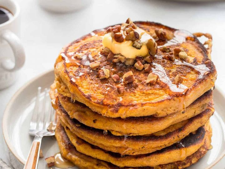 Pumpkin Pancakes | 12 Healthy Pumpkin Recipes Perfect for Fall | Her Beauty