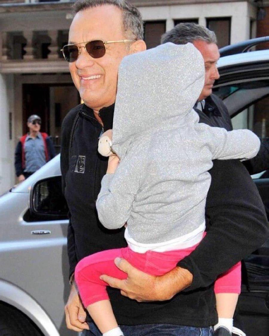 Tom Hanks | 12 Celebrity Grandpas With Their Grandchildren Will Melt Your Heart | Her Beauty