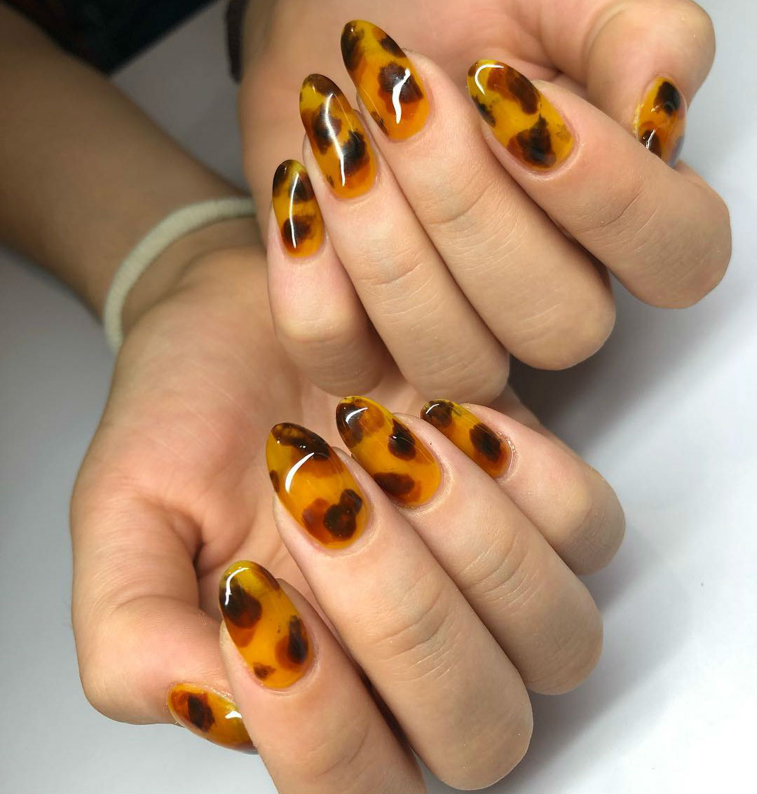 Trended back in 2013 | Tortoiseshell Nails are Autumn's Coolest Manicure Trend | Her Beauty