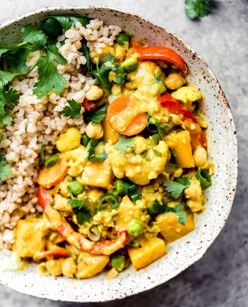 Yellow Chickpea Pumpkin Curry with Coconut Brow | 12 Healthy Pumpkin Recipes Perfect for Fall | Her Beauty
