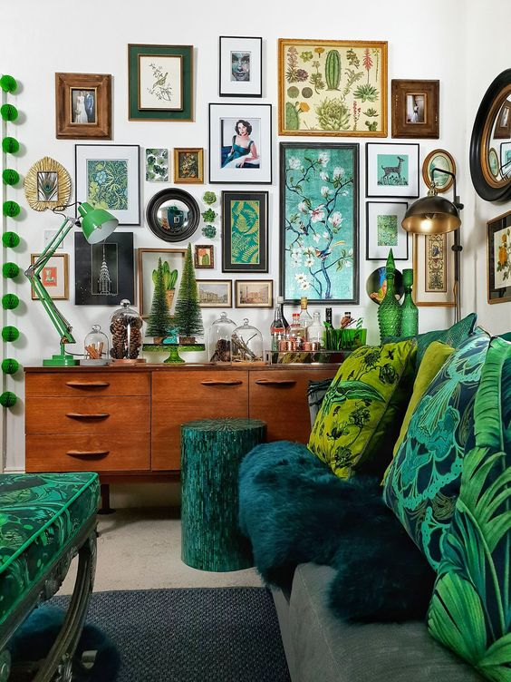 Hang creative photo arrangements and inexpensive art as opposed to fancy | 15 Creative and Budget Friendly Home Renovation Tips| Her Beauty