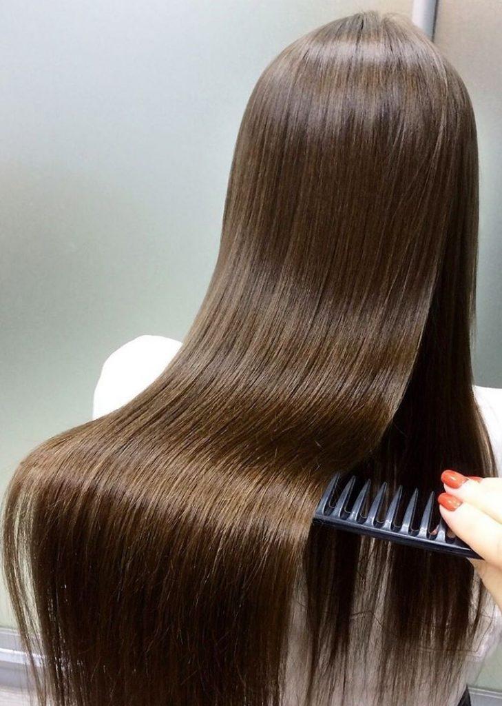 После выпрямления   Все о кератиновом выпрямлении волос   Her Beauty