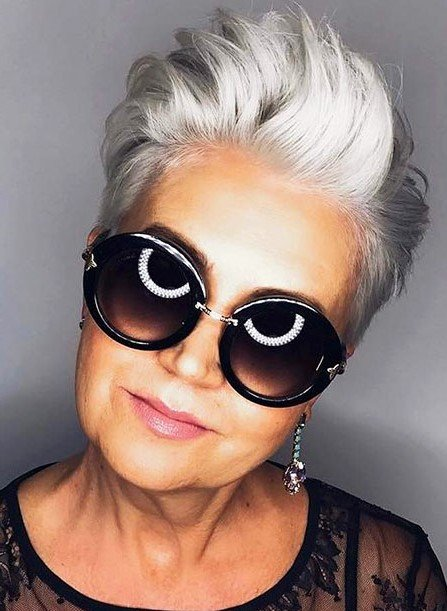 Spiky gray pixie | Short Hairstyles For Women Over 50 | Her Beauty