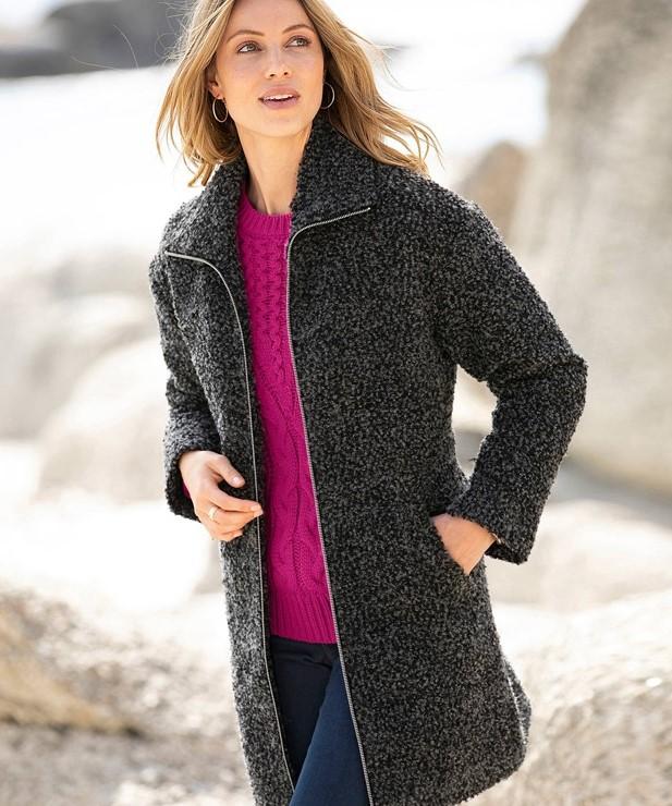 Boucle | 10 Coolest Winter Coat Trends | Her Beauty