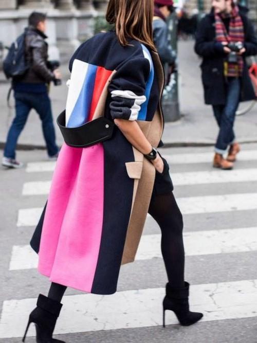 Color blocked coat | 10 Coolest Winter Coat Trends | Her Beauty
