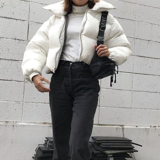 Cropped puffer | 10 Coolest Winter Coat Trends | Her Beauty
