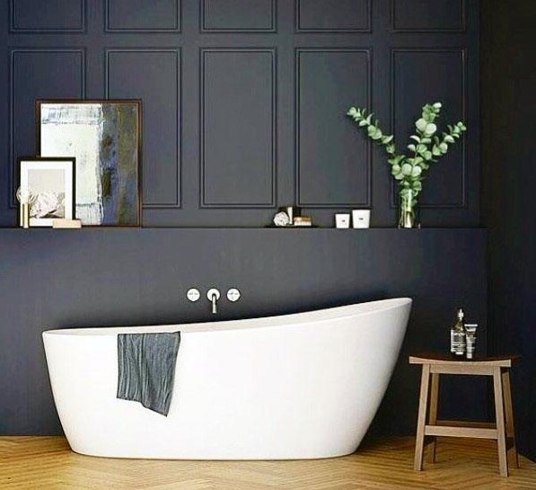Deep Navy | 10 Best and Worst Colors for Your Bathroom | Her Beauty