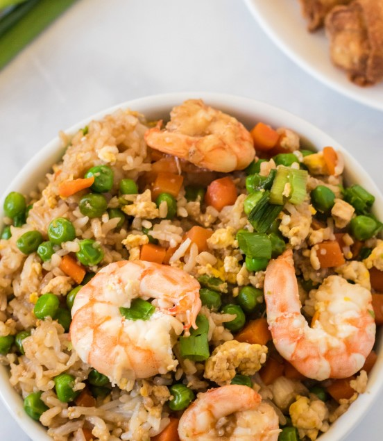 Easy Shrimp Fried Rice | 12 Easy But Delicious Shrimp Recipes | Her Beauty