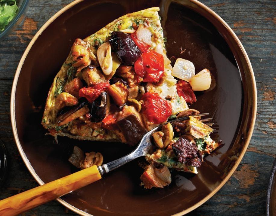 Eggplant and walnut frittata | 12 Cozy Fall Breakfast Ideas | Her Beauty