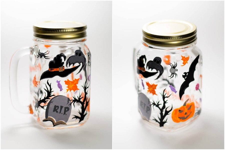 Halloween vibes | Hand-Painted Glass Cups And Teapots That Will Make Your Day | Her Beauty