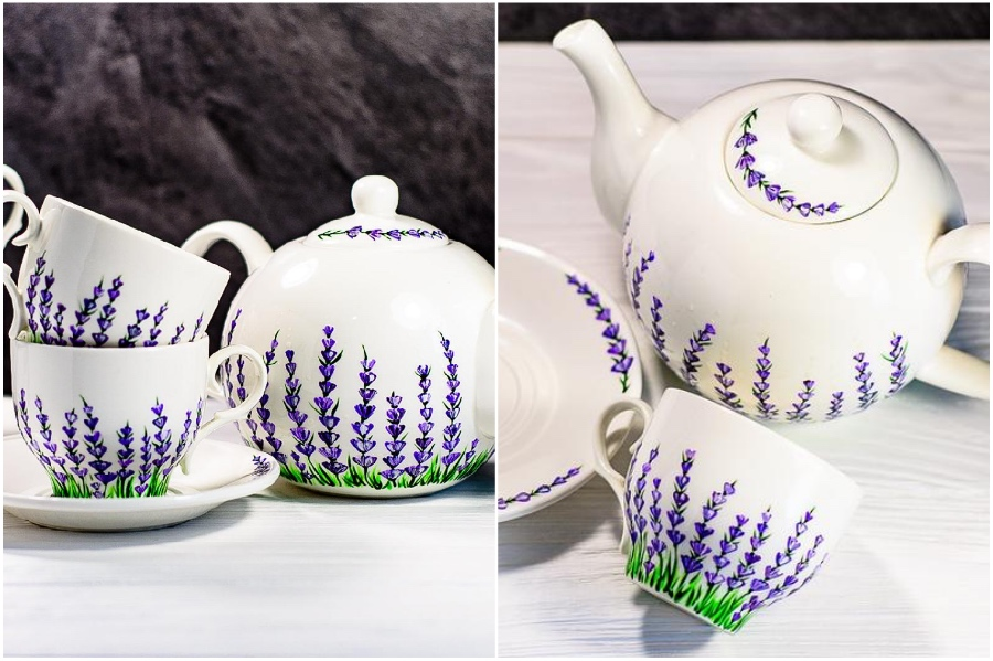 Etsy shop | Hand-Painted Glass Cups And Teapots That Will Make Your Day | Her Beauty