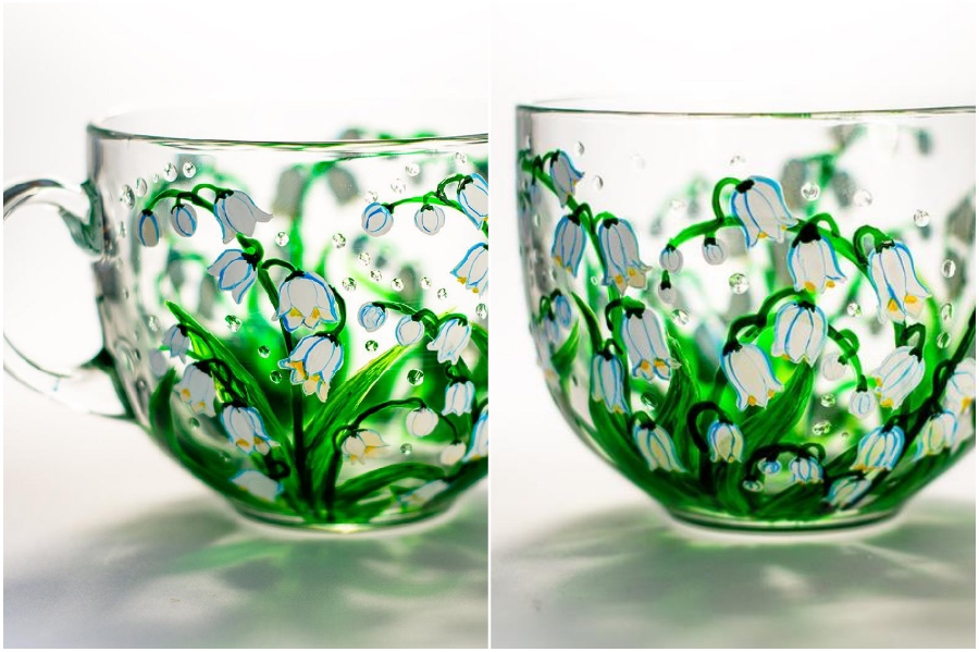 gorgeous lily | Hand-Painted Glass Cups And Teapots That Will Make Your Day | Her Beauty