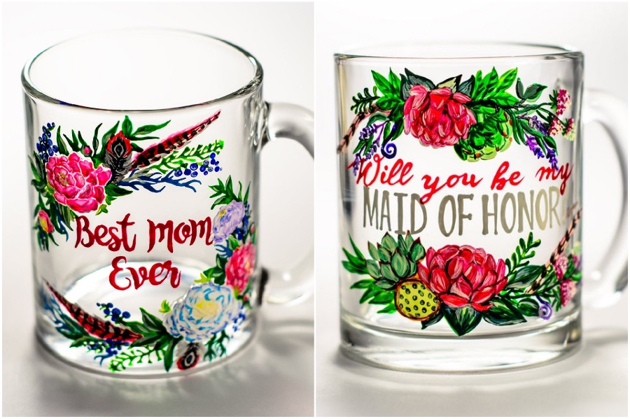 Perfect gift  | Hand-Painted Glass Cups And Teapots That Will Make Your Day | Her Beauty