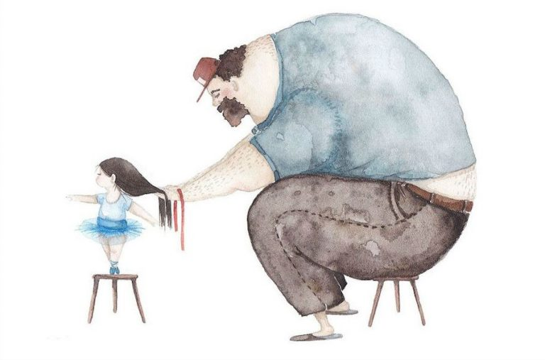 Heartwarming Father-Daughter Illustrations By Soosh | Her Beauty