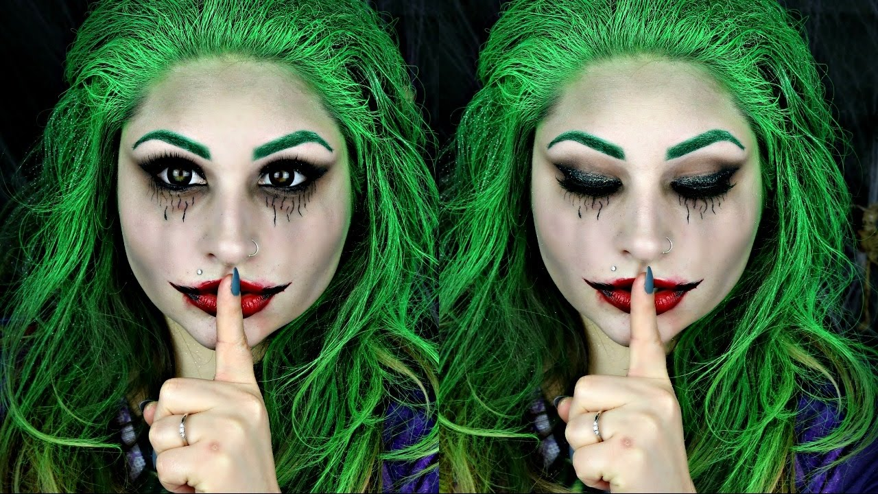 The Joker  |  11 Creepy and Cool Halloween Makeup Ideas to Try This Year |  HerBeauty