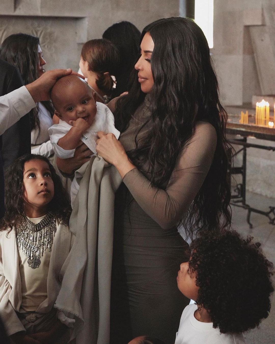 Kim Kardashian And Her Kids Baptized In Armenian Church #2   Her Beauty
