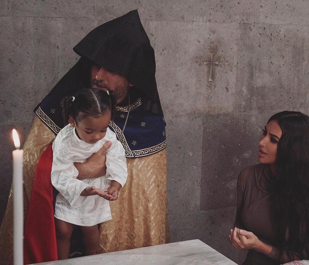 Kim Kardashian And Her Kids Baptized In Armenian Church #3 | Her Beauty