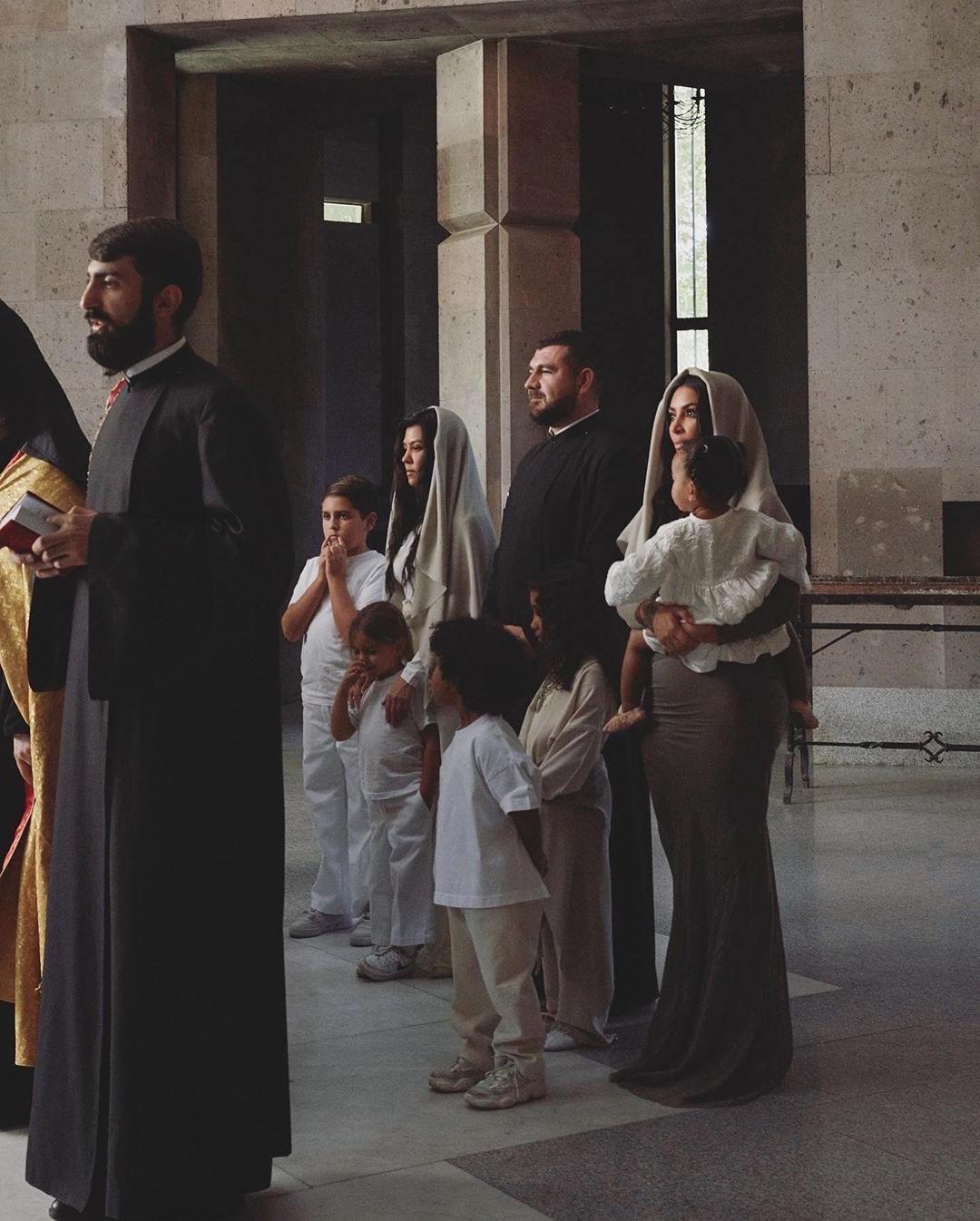 Kim Kardashian And Her Kids Baptized In Armenian Church #8 | Her Beauty