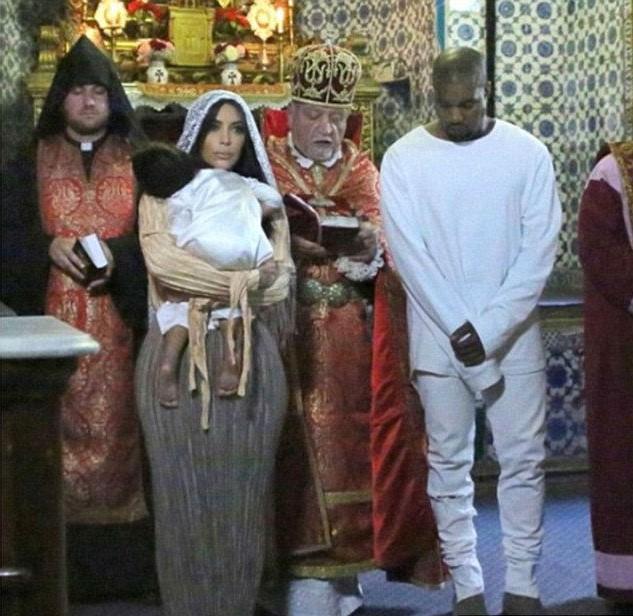 Kim Kardashian And Her Kids Baptized In Armenian Church #10 | Her Beauty