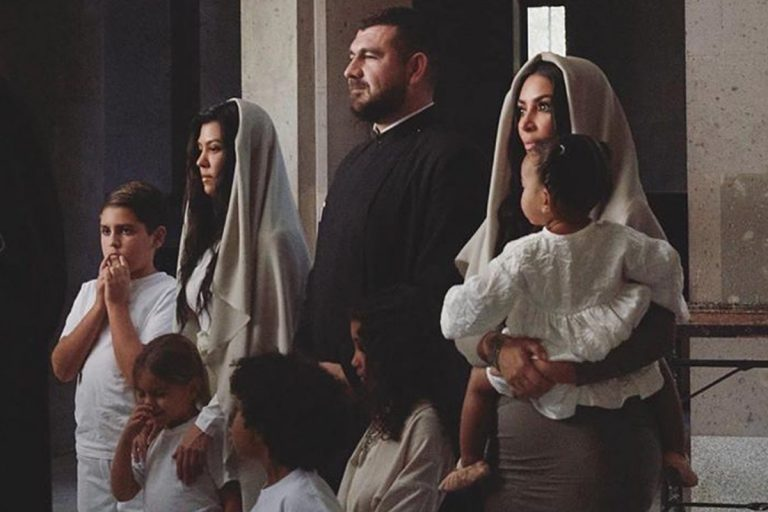 Kim Kardashian And Her Kids Baptized In Armenian Church | Her Beauty