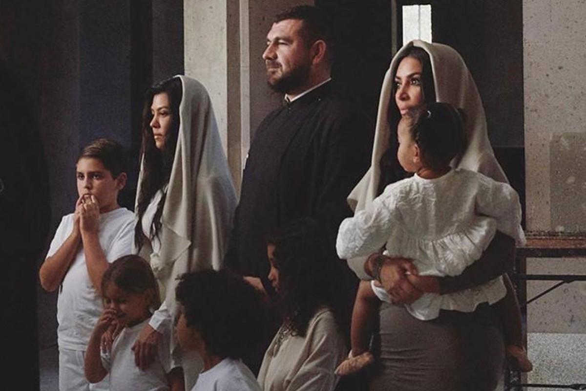 Kim Kardashian And Her Kids Baptized In Armenian Church | Her Beauty