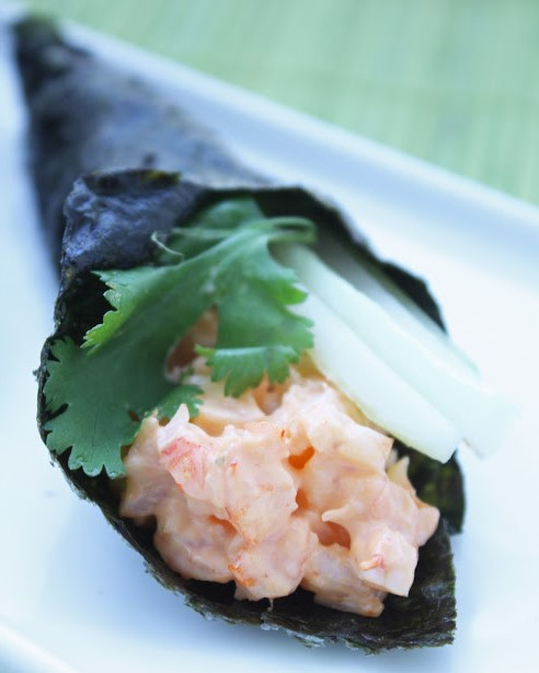 Low Carb Spicy Shrimp Hand Rolls | 12 Easy But Delicious Shrimp Recipes | Her Beauty