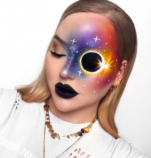 Lunar Eclipse #1  |  11 Creepy and Cool Halloween Makeup Ideas to Try This Year |  HerBeauty