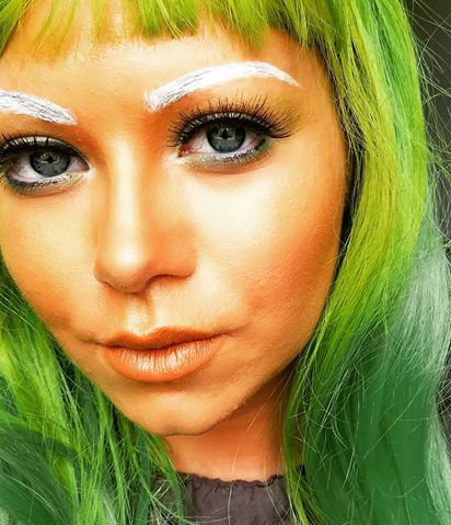 Oompa Loompa  #2 |  11 Creepy and Cool Halloween Makeup Ideas to Try This Year |  HerBeauty