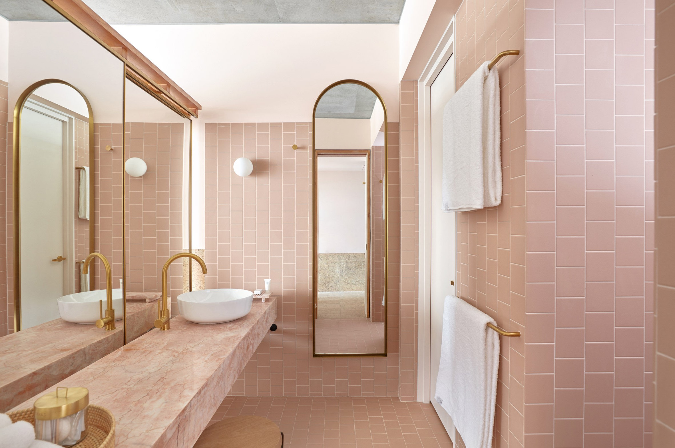 Peachy pink | 10 Best and Worst Colors for Your Bathroom | Her Beauty