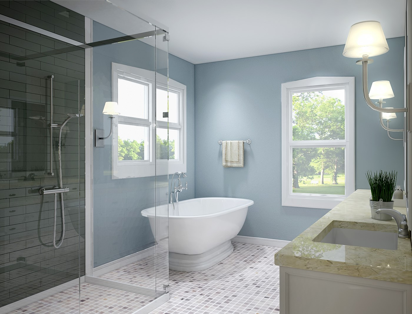 Periwinkle | 10 Best and Worst Colors for Your Bathroom | Her Beauty