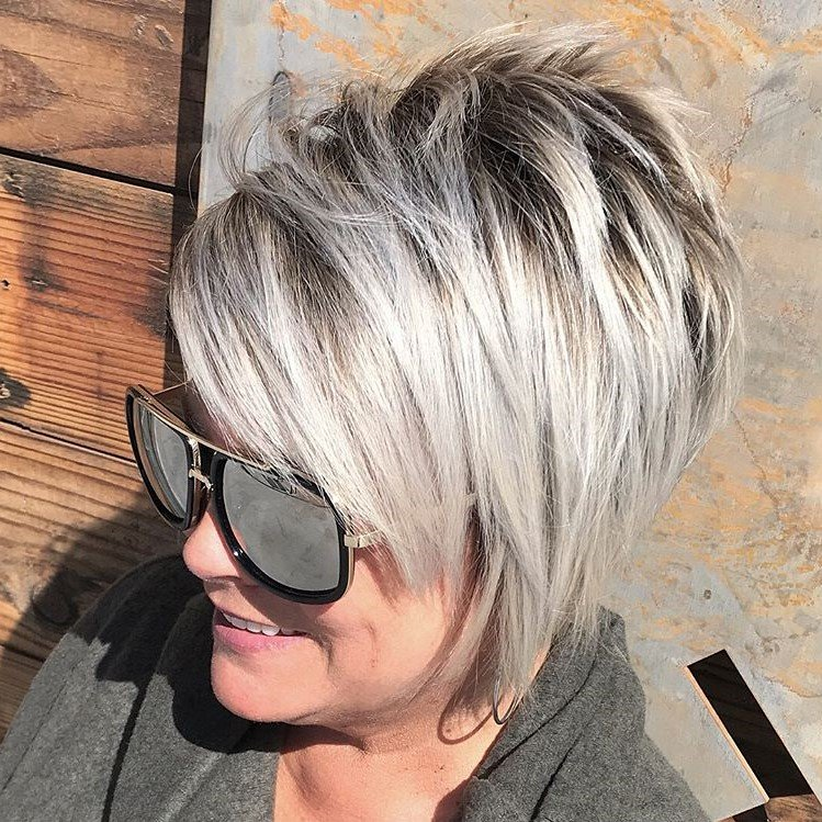 Pixie with side swept bangs | Short Hairstyles For Women Over 50 | Her Beauty