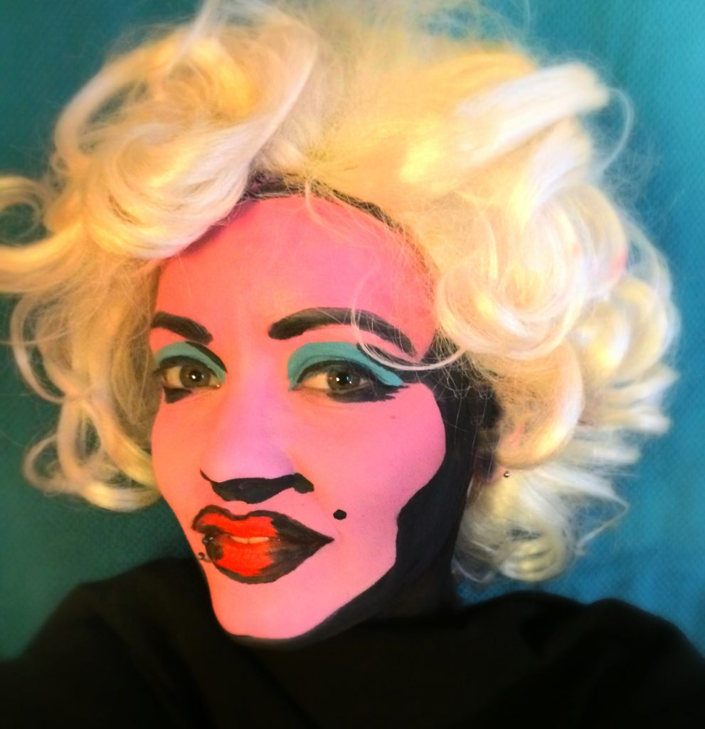 Pop art Monroe  |  11 Creepy and Cool Halloween Makeup Ideas to Try This Year |  HerBeauty