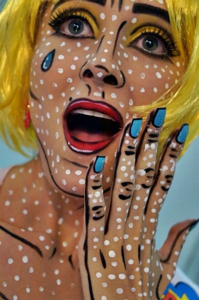Pop art  |  11 Creepy and Cool Halloween Makeup Ideas to Try This Year |  HerBeauty
