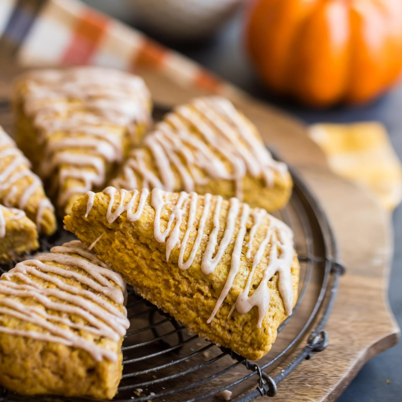 Pumpkin scones | 12 Cozy Fall Breakfast Ideas | Her Beauty