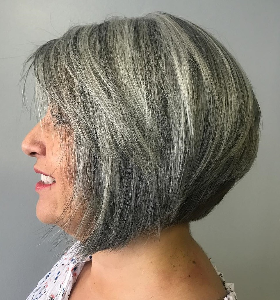 Rounded bob/lob with stacked nape | Short Hairstyles For Women Over 50 | Her Beauty