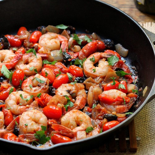 Shrimp Puttanesca | 12Easy But Delicious Shrimp Recipes | Her Beauty