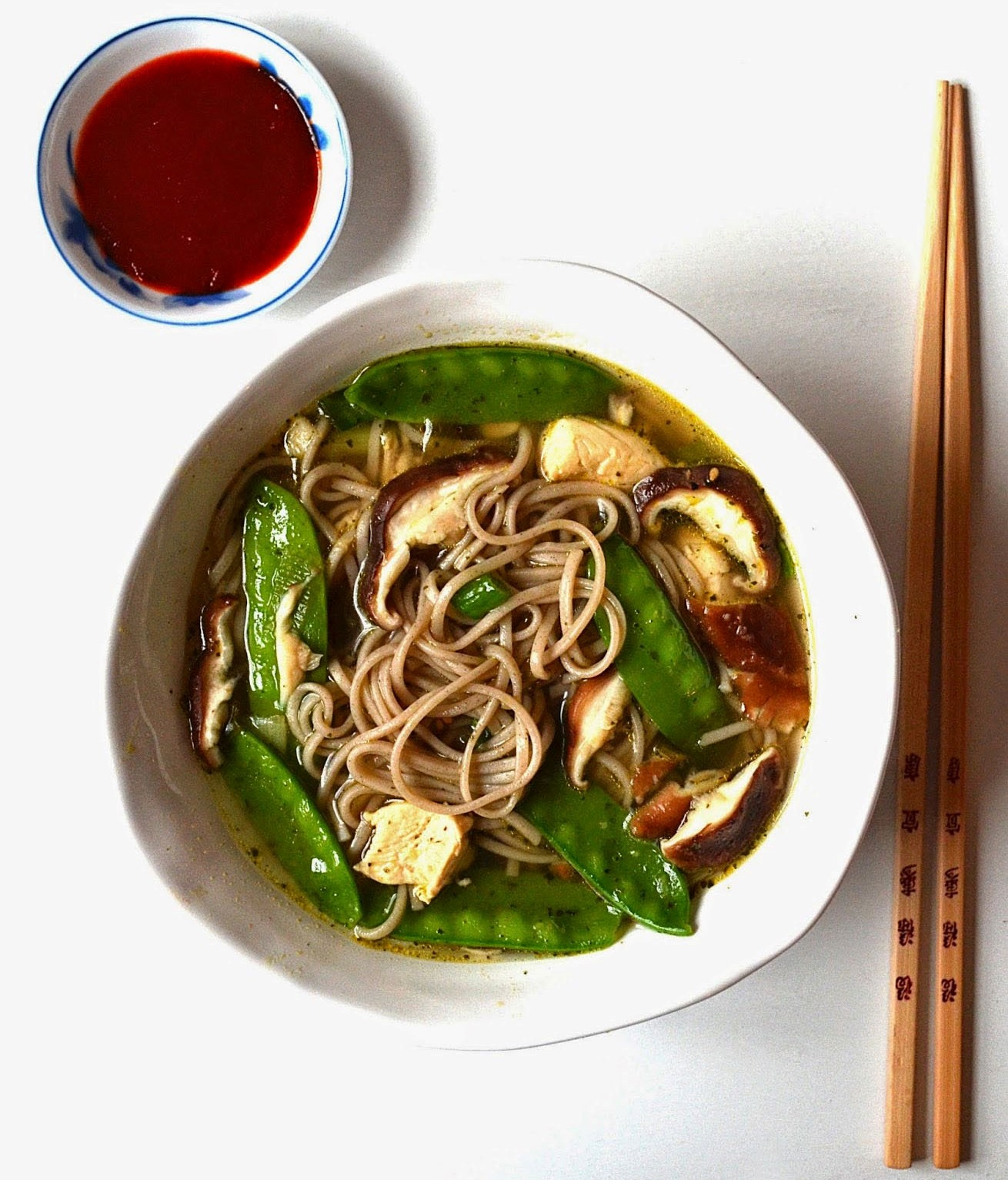 Soba Noodle Soup with Mushrooms & Snow Peas | 12 Easy But Delicious Shrimp Recipes | Her Beauty