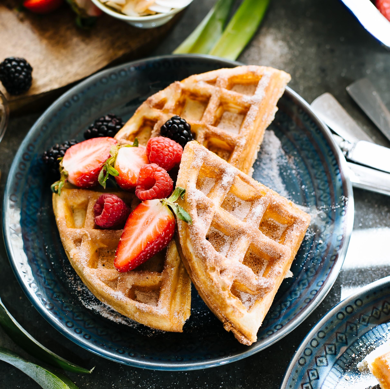 Sourdough whole wheat waffles | 12 Cozy Fall Breakfast Ideas | Her Beauty